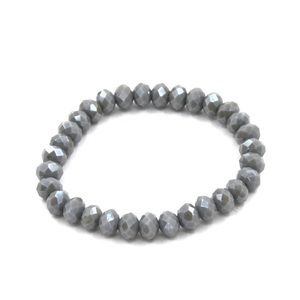 NWT • Gray brown stretch bracelet